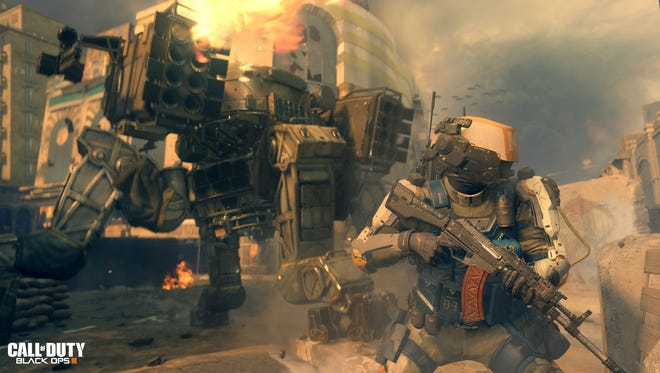 """A scene from the upcoming video game 'Call of Duty: Black Ops 3."""""""