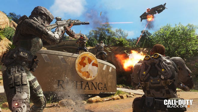 A screen shot from the upcoming video game 'Call of Duty: Black Ops III.'