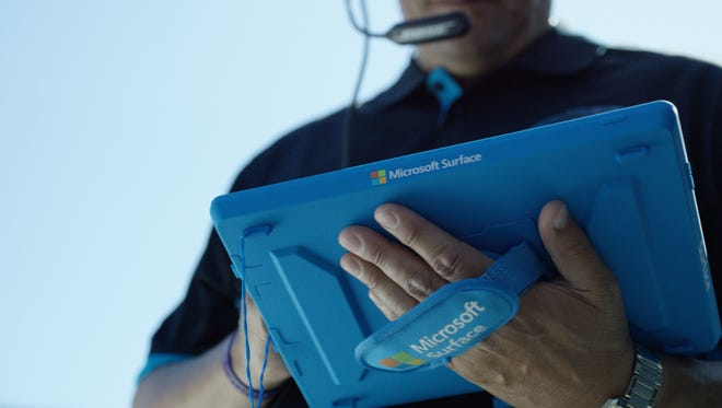 Microsoft Surface tablets are in use by all NFL teams