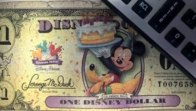 Image of a Disney Dollar