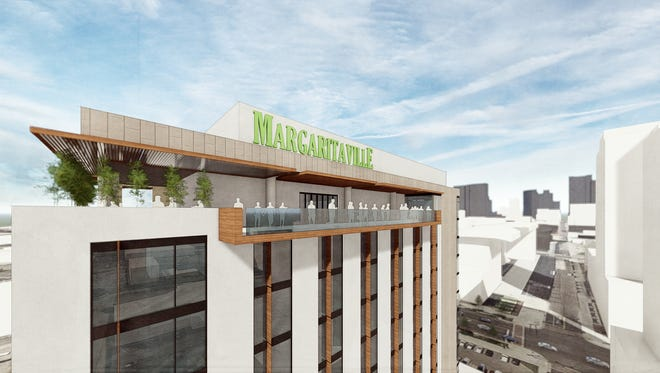 A rendering of the Margaritaville Hotel planned at 425 Fifth Ave. S.