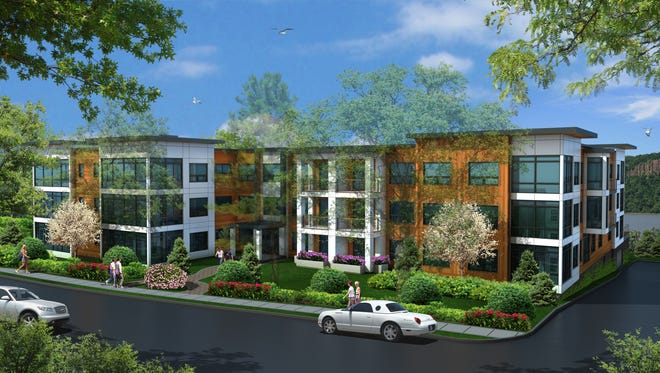 An artist rendering of the 1177@Greystone building at 1177 Warburton Ave. in Yonkers.