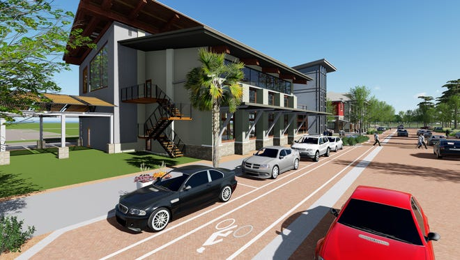 An illustration of what the Babcock Neighborhood School will look like in the heart of Babcock Ranch.