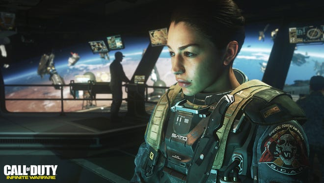 The action in the new video game 'Call of Duty: Infinite Warfare' goes into outer space.