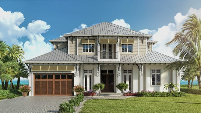 The 3,746-square-foot Useppa floor plan is one of five floor plans in Seagate's offering at Hill Tide Estates on the southern tip of Boca Grande.