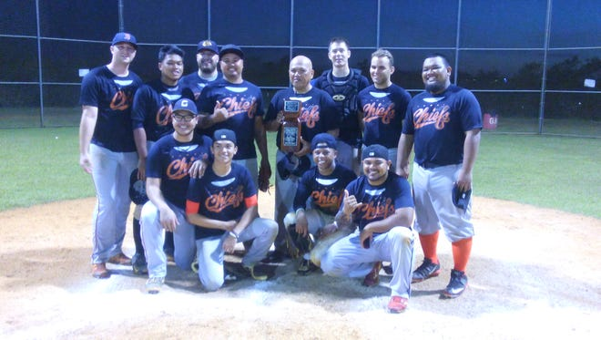 The Sumay Chiefs were crowned champions of the Aloha Maid Fall Amateur Baseball League with a 4-3 win over the AutsSpot Canyons. Feb. 26, 2017
