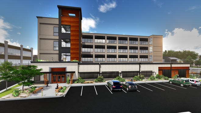 Rendering of Lighthouse Youth Services new Sheakley Center for Youth, which will provide homeless youth emergency shelter and short-term apartment housing. The $19 million project will be completed by December 2017 and open in January of 2018.