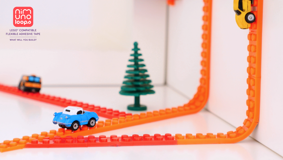 Nimuno Loops is 'Lego-compatible tape' that bends or