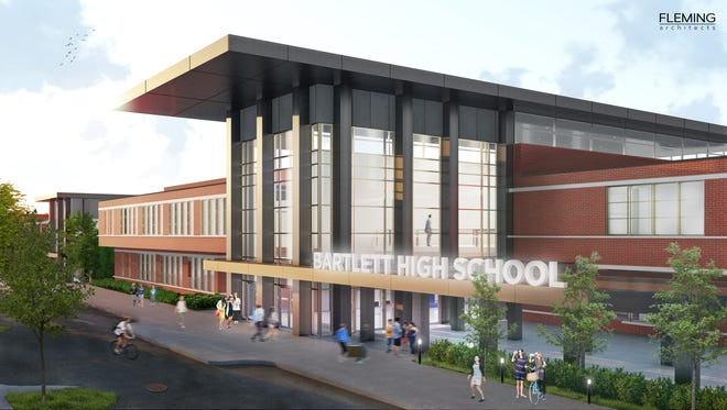 Proposed entrance to renovated Bartlett High