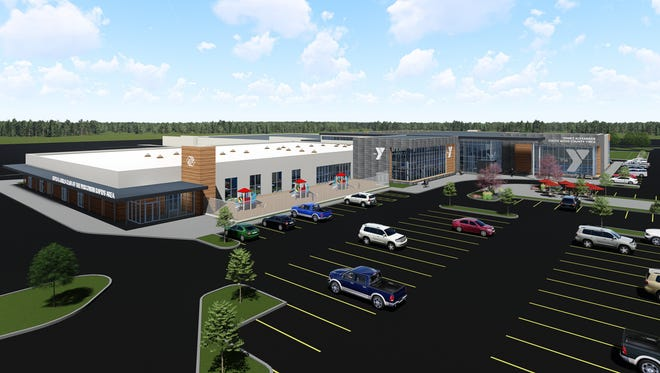 A rendering of a new Boys & Girls Club and YMCA building in Wisconsin Rapids.