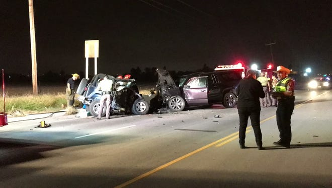 A Corpus Christi man died when a Jeep Rubicon veered into oncoming traffic and collided head-on with a Chevrolet Suburban on Thursday night on Farm-to-Market Road 43.