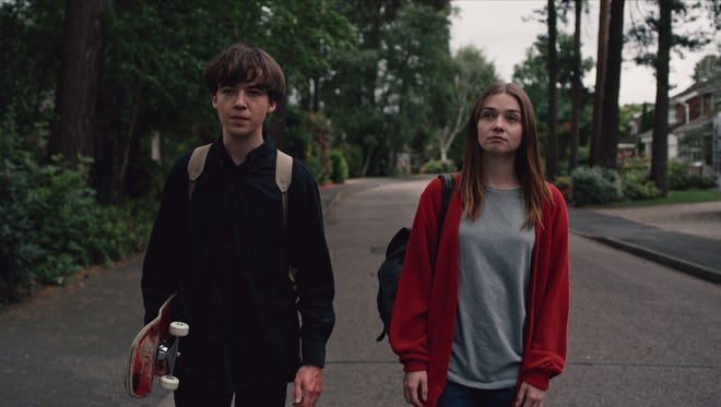 Alex Lawther and Jessica Barden star in 'The End of the ... World.'