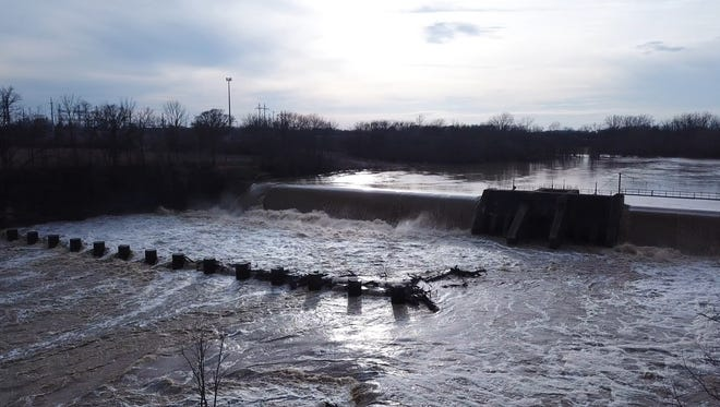 Recent snow melt and rainfall has led to a surge in water at the Ballville Dam near and Ice Control Structure where some could walk across the Sandusky River.