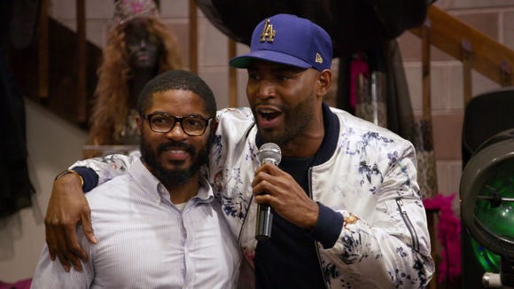 "A.J. (left) and Karamo Brown on ""Queer Eye."""