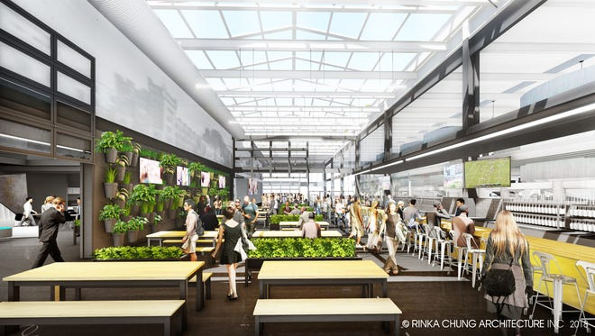 Glass + Griddle, the restaurant under construction at the new Milwaukee Brewing complex on the old Pabst grounds, will have a glassy area and large windows that open.