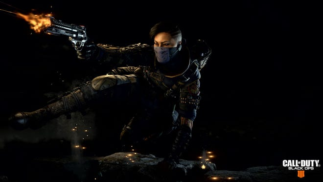 A screen shot from the video game 'Call of Duty: Black Ops 4.' scheduled for release Oct. 12 on PlayStation 4, Xbox One, and PC.