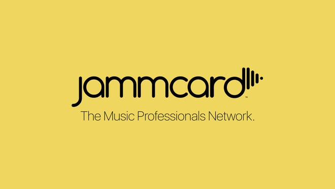 The logo for Jammcard, the networking app for professional musicians