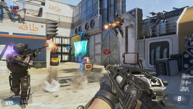 A screen shot from the video game 'Call of Duty: Advanced Warfare.'