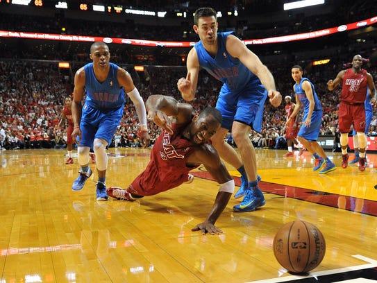 Dec. 25, 2012: Miami Heat shooting guard Dwyane Wade