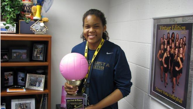 Vanessa Wesley and the Phoenix Desert Vista girls volleyball team are 16-0 on the season.
