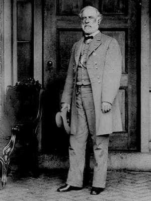 Confederate General Robert E. Lee in April 1865. Photographed by Mathew B. Brady.