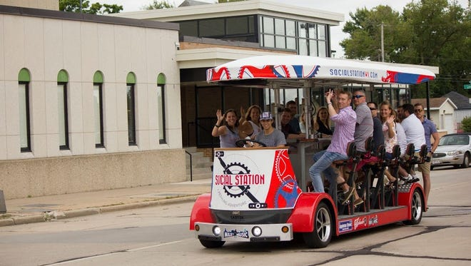 Social Station is a pedal-powered quadricycle in downtown Appleton.