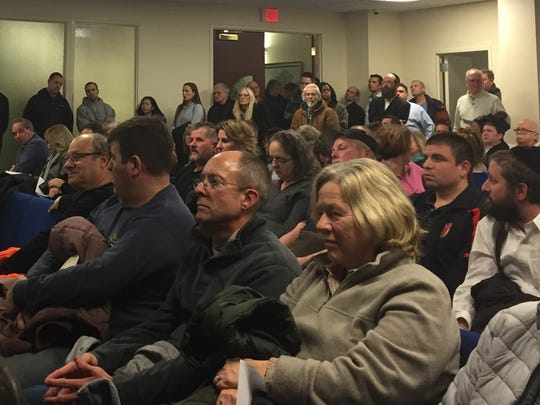 Howell residents pack a Monmouth County Solid Waste Advisory Council meeting on Thursday night to oppose a proposed waste transfer station.