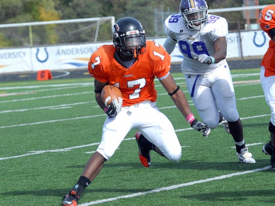 FILE - NFL hopeful Marcus Spann shown here running for Anderson University.