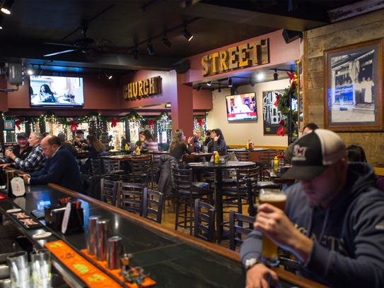 Patrons enjoy the Church Street Tavern in Burlington