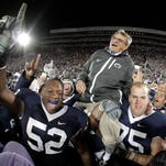The late Joe Paterno is once again the winningest coach in major college football history.