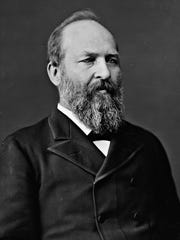 A photograph of President James A. Garfield.
