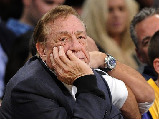 FILE - In this Feb. 25, 2011, file photo, Los Angeles Clippers owner Donald Sterling looks on during the first half of their NBA basketball game against the Los Angeles Lakers in Los Angeles. Sterling could use lawyers and lawsuits to challenge the NBA?s plan to force him out over recent racist comments, but legal experts say the league would likely prevail in the end. Sports law experts say the NBA?s constitution gives its Board of Governors broad latitude in league decisions including who owns the teams. NBA Commissioner Adam Silver wants a swift vote against Sterling, which requires a minimum of three-fourths of the other 29 controlling owners to agree. (AP Photo/Mark J. Terrill, File)