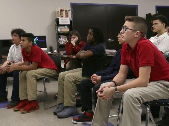 Students of Dan Jones' social studies and language