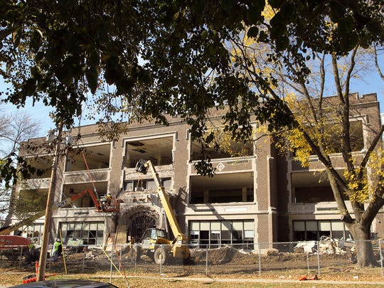 Demolition continues at the former Sabin Elementary