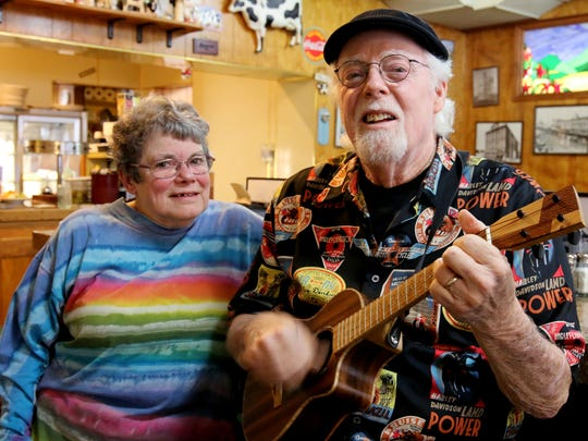 Nancy Stempek and Steve Yant are excited about the Civil Disobedients' Woodstock concert to benefit the hungry and homeless in our community.