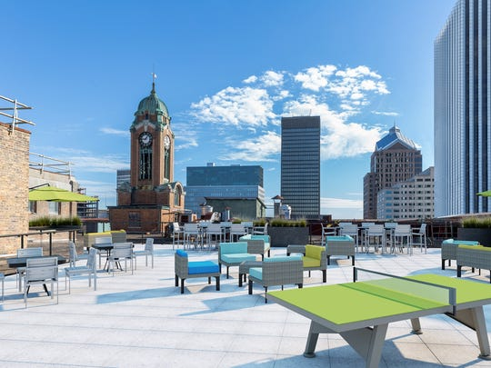 A rendering of High Tech Rochester's future rooftop