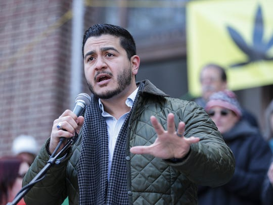 Democratic gubernatorial candidate Abdul El-Sayed speaks