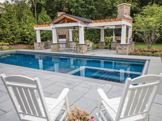 Franklin Lakes backyard designed by Thomas Flint Landscape
