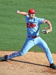 Ole Miss reliever Dallas Woolfolk has been pitching well lately for the Rebels.