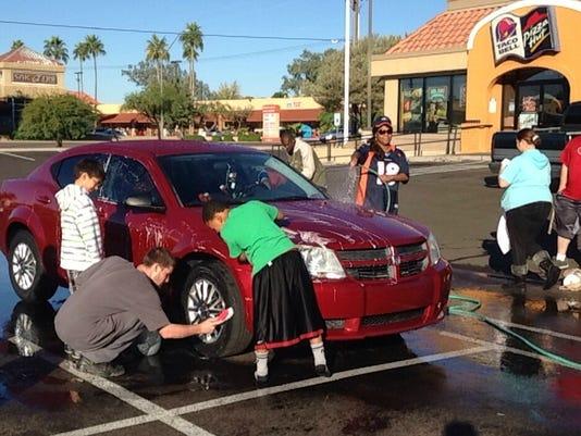 Khalli Lawrence car wash