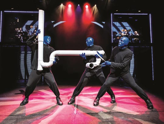 Blue Man Group uses everyday items to create its percussive