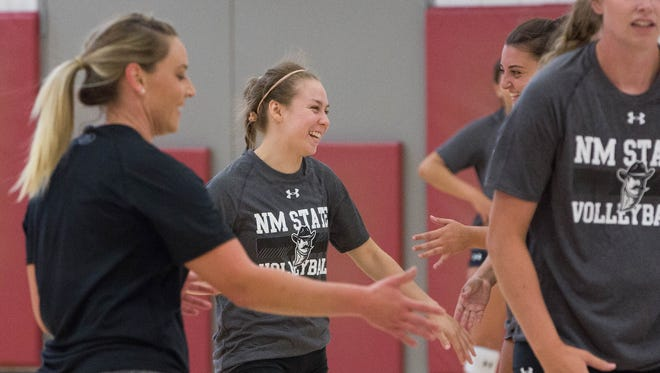 New Mexico State libero Ariadnne Sierra has gone from a walk-on from El Paso to last year's WAC Libero of the Year.