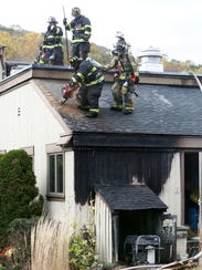 Firefighters from Somers, Bedford Hills and Yorktown
