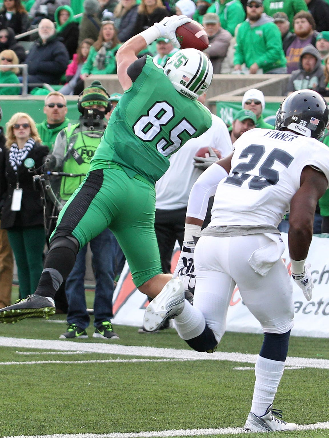 Marshall tight end Ryan Yurachek (85) is a key option for the Herd as it competes for a C-USA East title.