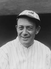 Miller Huggins, manager of the Yankees, poses in New