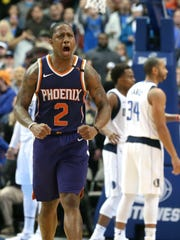 Suns guard Isaiah Canaan reacts to a play during Monday's