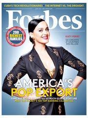 Katy Perry on cover of 'Forbes' magazine.