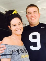 Stacy Henson and Nathan Muench will celebrate their big day Saturday in Des Moines.