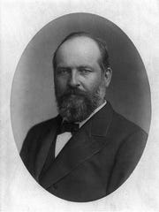President James A. Garfield, 20th chief executive of the United States who served from March 4, 1881 to Sept. 19, 1881. Garfield was the second of four presidents to be assassinated in American history.