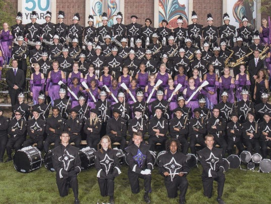 Spirit of Muncie band and guard